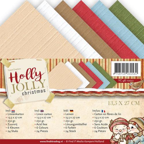 Linnenpakket - 4K - Yvonne Creations - Holly Jolly
