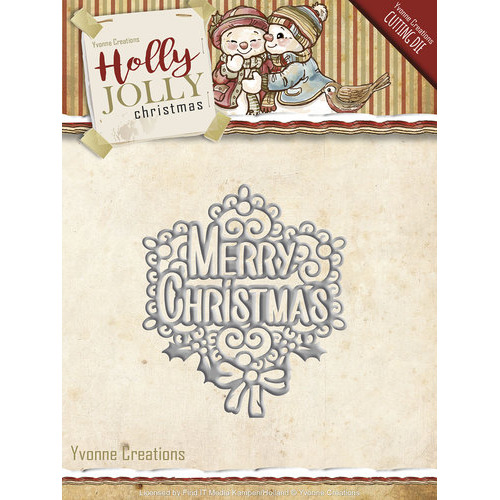 Die - Yvonne Creations - Holly Jolly - Merry Christmas
