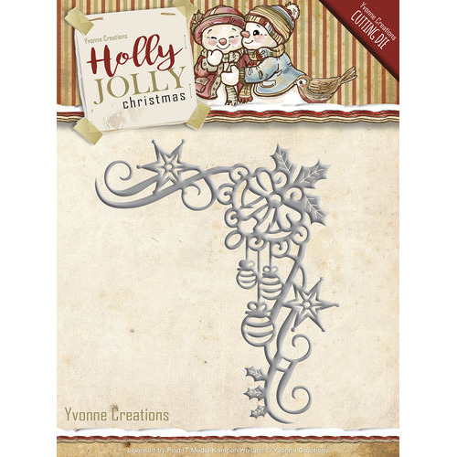 Die - Yvonne Creations - Holly Jolly - Christmas Decoration
