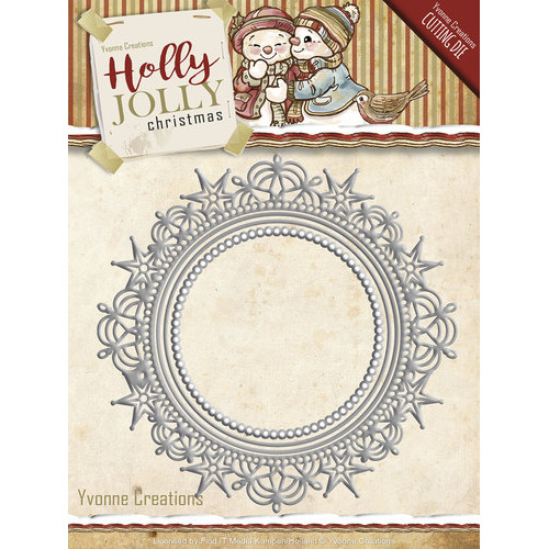 Die - Yvonne Creations - Holly Jolly - Nesting Frame