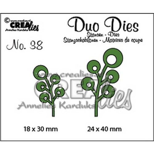 Crealies Duo Dies no. 38 blaadjes 6 24x40mm-18x30mm / CLDD38
