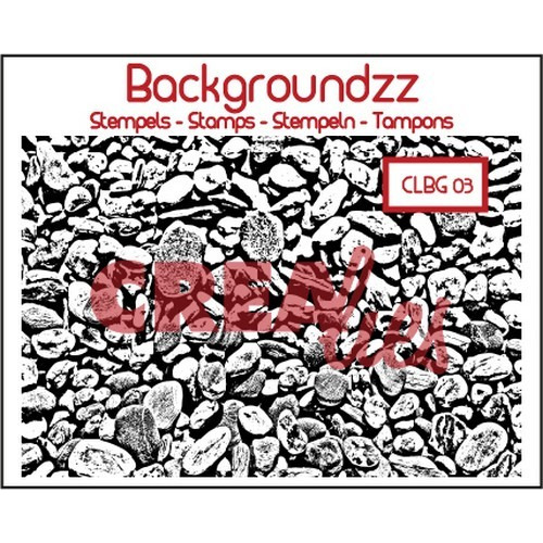 Crealies Clearstamp Backgroundzz 03 Cobbles 95x135mm / CLBG03