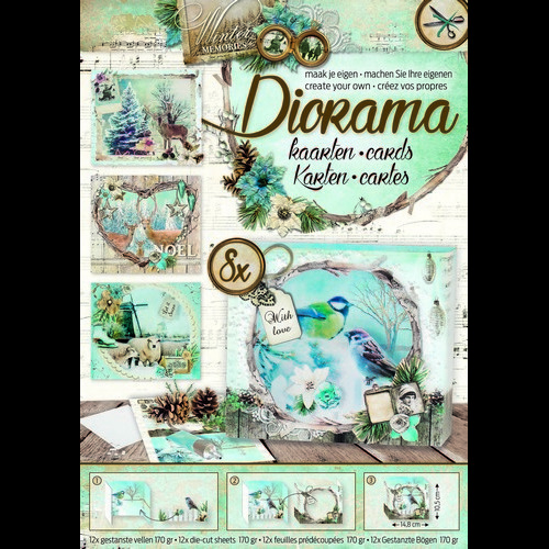 Studio Light Die cut blocs Diorama A4 12 vel Winter Memories 03 DIORAMABLOKWM03 (09-16)