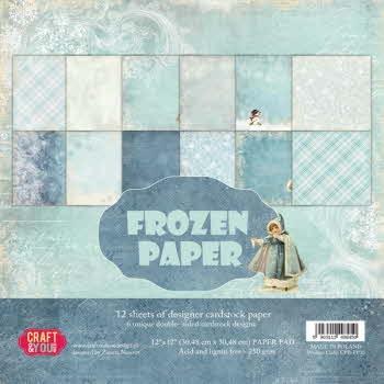 """CPS-FP30 FROZEN PAPER Paper Set 12x12"""", 12 sheets, ( 200 gsm )"""