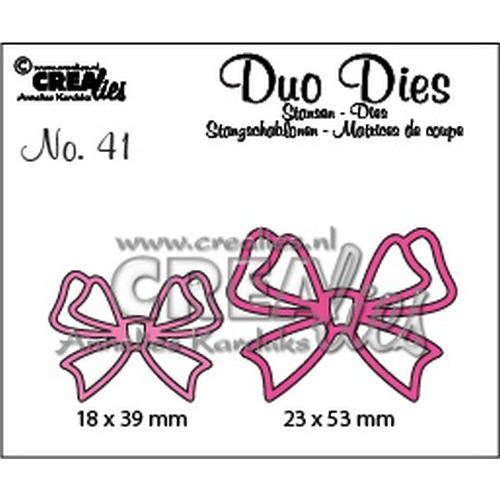 Crealies Duo Dies no. 41 Strikjes 24x31mm-31x41mm / CLDD41 (09-16)