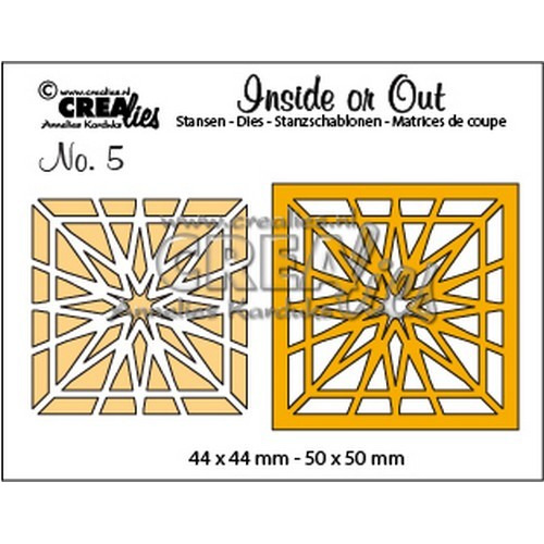 Crealies Insider or Out Blok ster 44 x 44 - 50 x 50mm / CLIO05 (09-16)