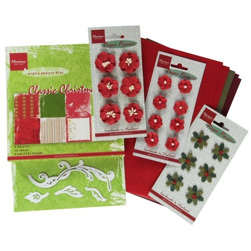 Marianne D Assortiment set Floral red PA4032 (10-16)