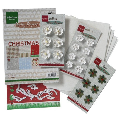 Marianne D Assortiment set Floral white PA4033 (10-16)