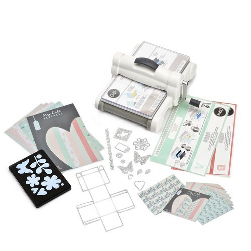Sizzix Big Shot PLUS Starter Kit White & Grey ft. MLH 661546 (09-16)