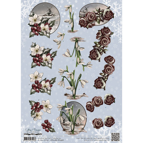 3D Knipvel - Amy Design - Wintertide - Flowers