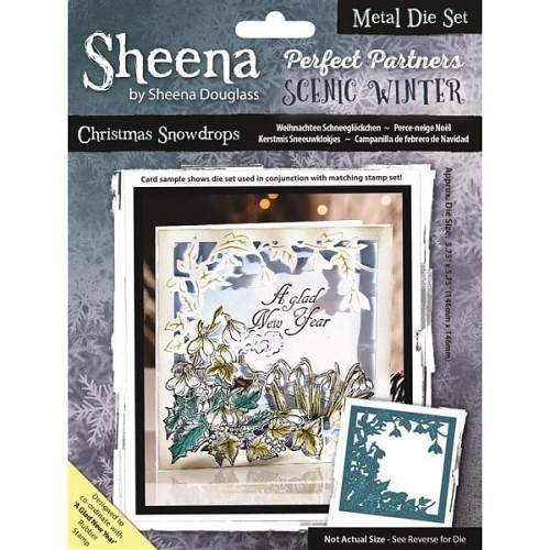 Sheena Douglass Perfect Partners Scenic Winter Metal Die - Christmas Snowdrops