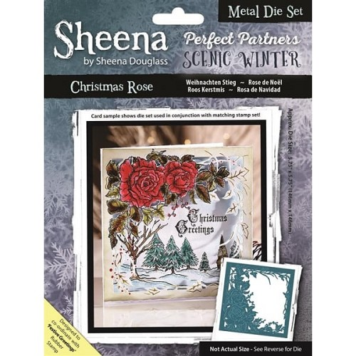 Sheena Douglass Perfect Partners Scenic Winter Metal Die - Christmas Rose Die