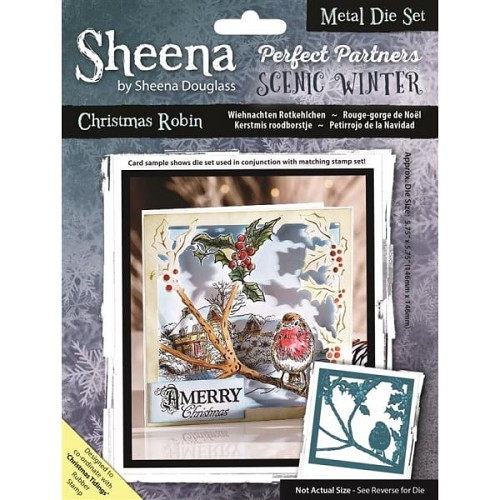 Sheena Douglass Perfect Partners Scenic Winter Metal Die - Christmas Robin