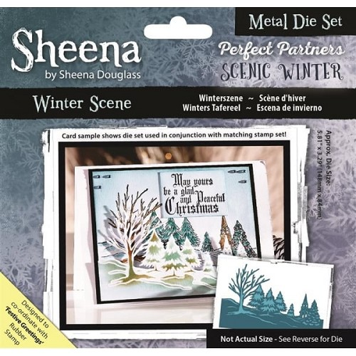 Sheena Douglass Perfect Partners Scenic Winter Metal Die - Winter Scene