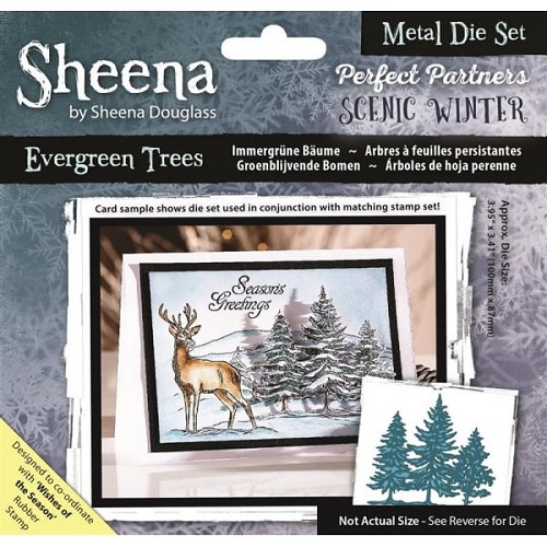 Sheena Douglass Perfect Partners Scenic Winter Metal Die - Evergreen Trees