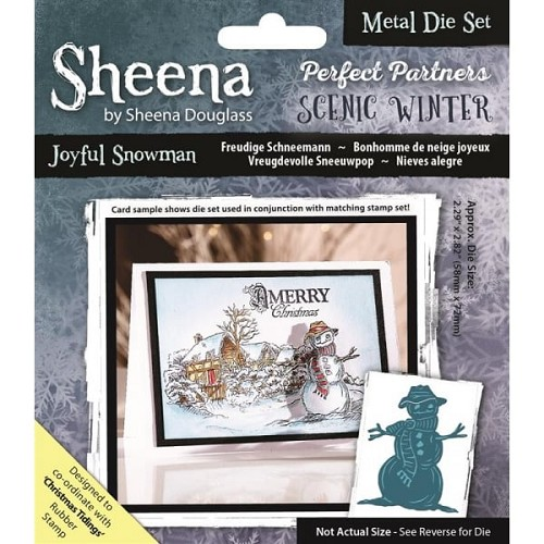 Sheena Douglass Perfect Partners Scenic Winter Metal Die - Joyful Snowman