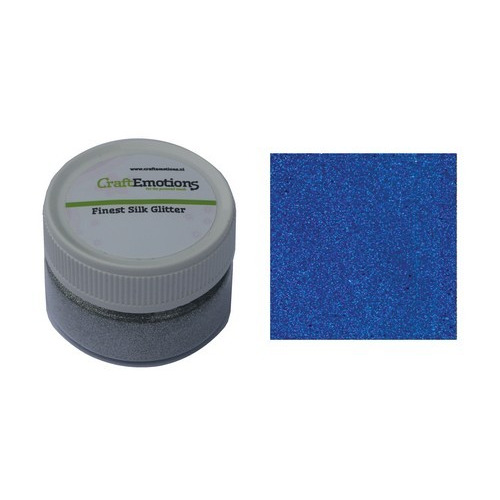 CraftEmotions Finest Silk Glitter blauw 16gr