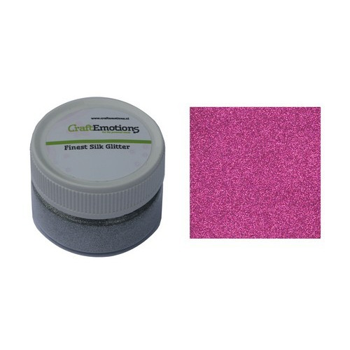CraftEmotions Finest Silk Glitter roze 16gr