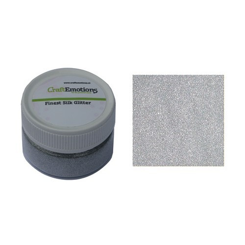 CraftEmotions Finest Silk Glitter zilver 16gr
