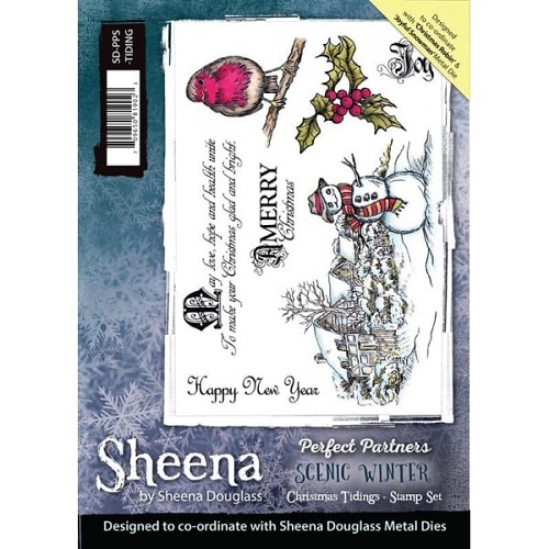 Sheena Douglass Perfect Partners Scenic Winter A5 Stamp Set- Christmas Tidings
