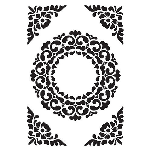 Vintasia Embossing folder Ornament Frame
