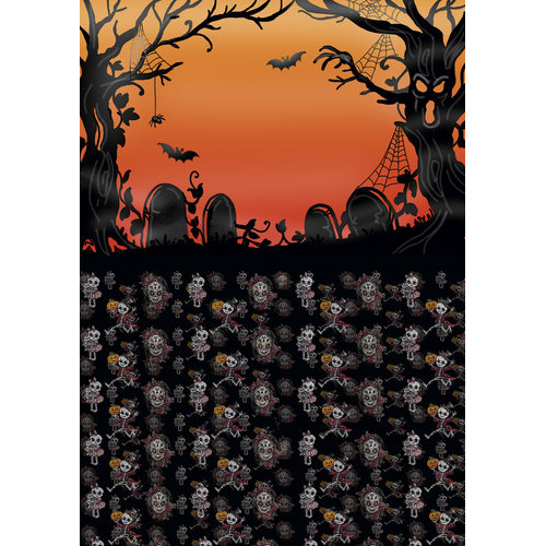 Backgroundsheets - Yvonne Creations - Happy Halloween