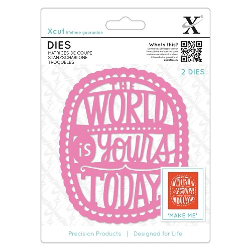 Dies (2pcs) - The World Is Yours