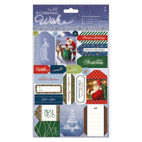 Die Cut Sentiments (2pk) - A Christmas Wish