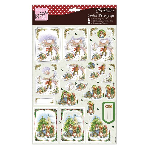 Foiled Decoupage - Christmassy Carolers