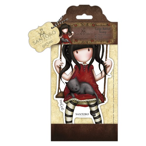 Large Rubber Stamp - Santoro - Ruby