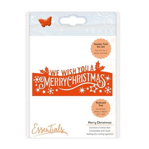 Tonic Studios Christmas header fold die - Merry Christmas die 1409E (10-16)