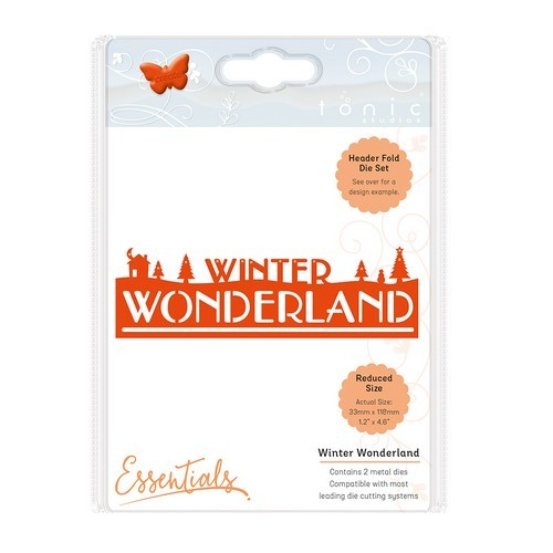 Tonic Studios Christmas header fold die - Winter wonderland 1410E (10-16)
