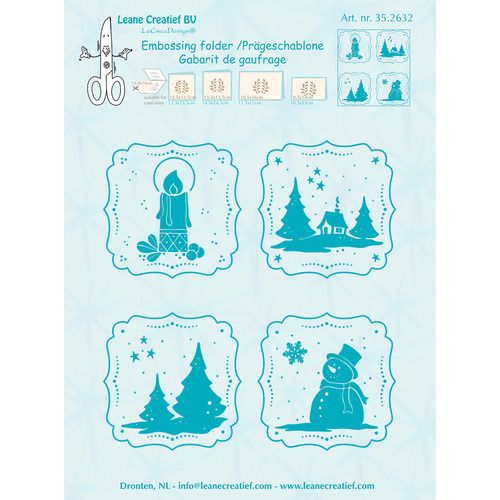 Embossing folder Frames Winter 14.4x16cm