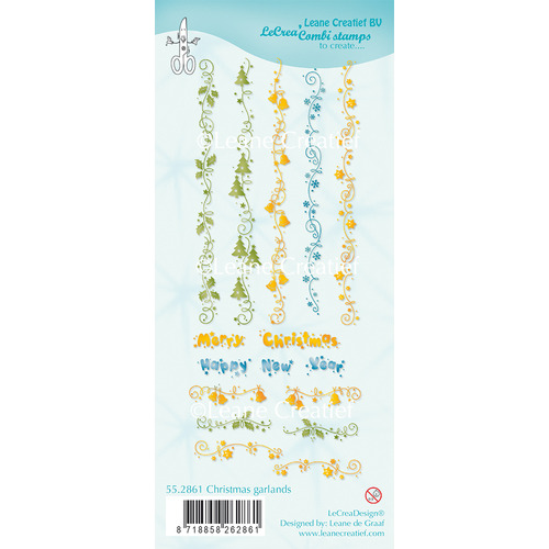 Combi clear stamp Christmas Garlands