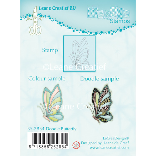 Doodle clear stamp Butterfly