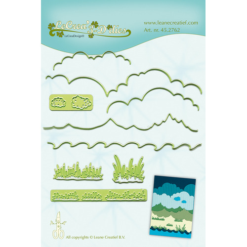 Lea'bilitie® Background dies landscape snij en embossing mal