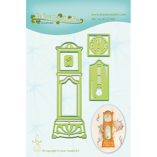 Lea'bilitie® Grandfather Clock snij en embossing mal