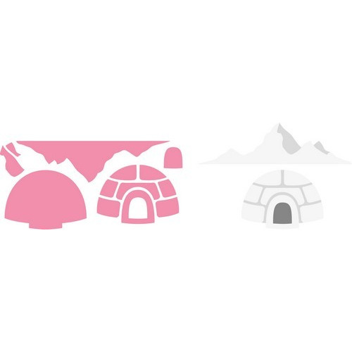 Marianne D Collectable Igloo and mountain COL1417  15x21 cm (11-16)