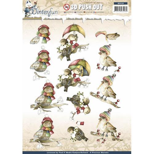 Pushout - Precious Marieke - Winterfun - Funny birds