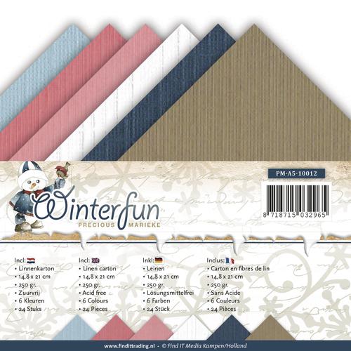 Linnenpakket - A5 - Precious Marieke - Winterfun