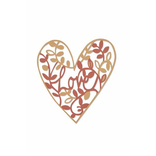 Sizzix Thinlits Die - Natural love 661377 Emily Atherton (10-16)