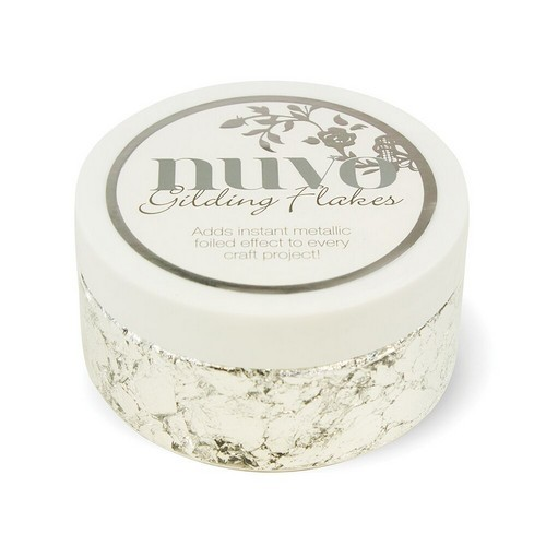 Nuvo gilding flakes (200ml) - silver bullion 851N