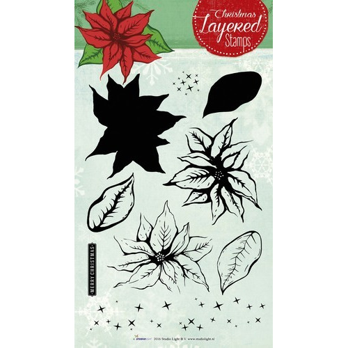 Studio Light Layered Clearstempel Christmas A5 nr 09 STAMPLS09 (11-16)