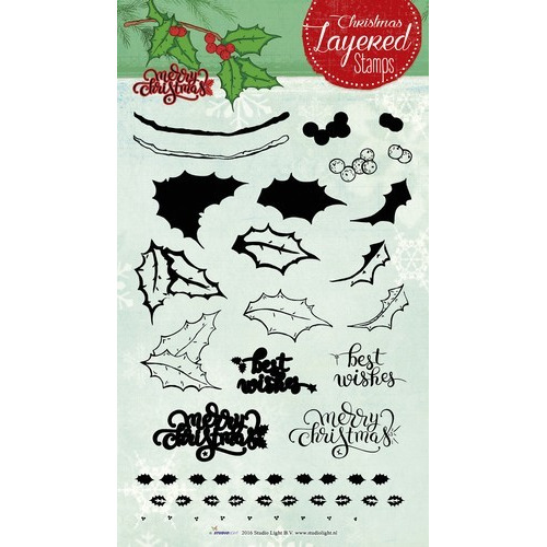 Studio Light Layered Clearstempel Christmas A5 nr 10 STAMPLS10 (11-16)