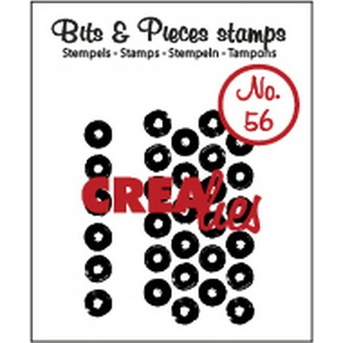 Crealies Clearstamp Bits&Pieces no. 56 grunge big dots 5x38 - 21x42mm / CLBP56 (10-16)