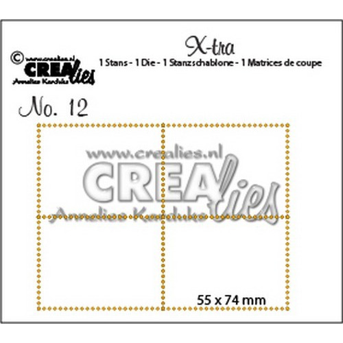 Crealies X-tra no. 12  4 postzegels 55x74mm / CLXTRA12 (10-16)