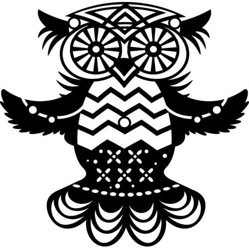 Marabu silhouette sjabloon 15x15 cm - M06 flying owl