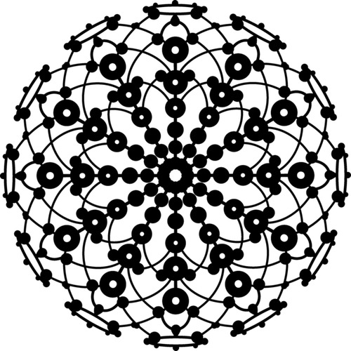 Marabu silhouette sjabloon 30x30 cm - M01 lace rosette