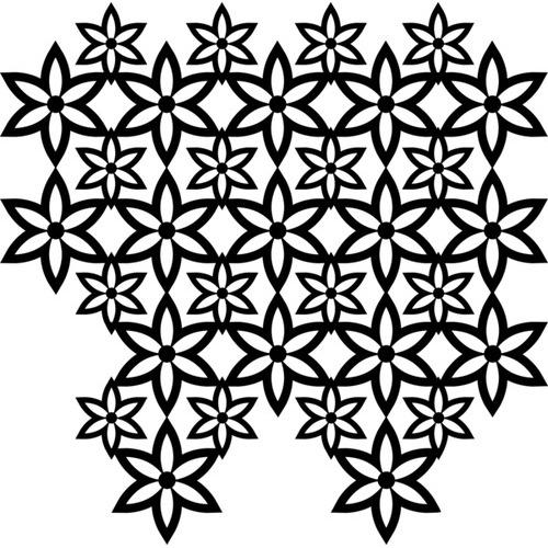 Marabu silhouette sjabloon 30x30 cm - M09 floral pattern