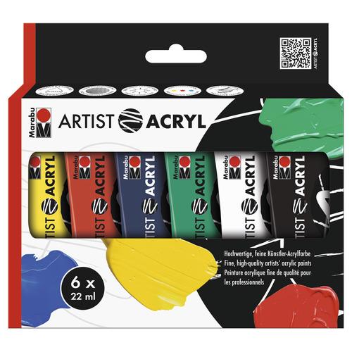 Artist Acryl set 6 x 22 ml